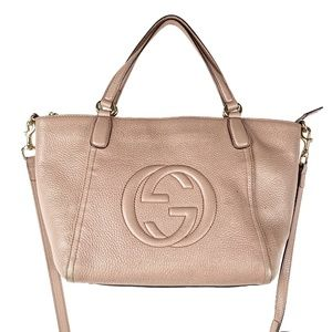 Gucci Soho Cellarius Leather Tote Bag with…